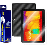 Samsung Galaxy Note 10.1 (2014 Edition) Screen Protector + Black Carbon Fiber Film Protector