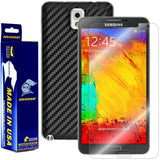 Samsung Galaxy Note 3 Screen Protector + Black Carbon Fiber Skin Protector