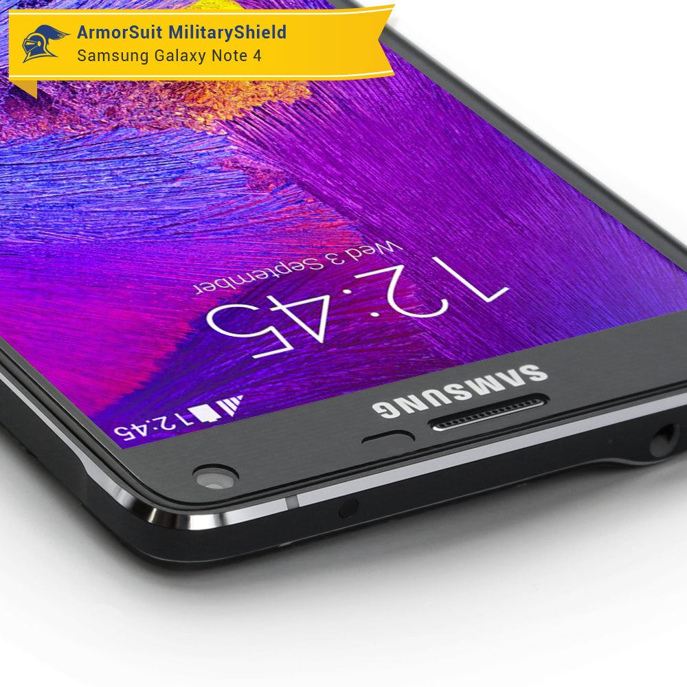 samsung galaxy note 4 screen protector case friendly armorsuit