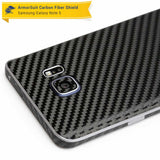 Samsung Galaxy Note 5 Screen Protector + Black Carbon Fiber Skin