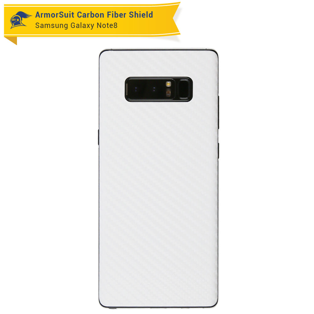 save off a57fd 6f0df Samsung Galaxy Note 8 White Carbon Fiber Skin Protector - ArmorSuit