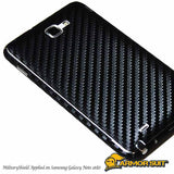 Samsung AT&T Galaxy Note Screen Protector + Black Carbon Fiber Skin Protector