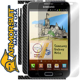 Samsung Galaxy Note Screen Protector & Black Carbon Fiber Skin Protector (International Version)