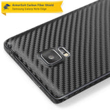 Samsung Galaxy Note Edge Protector + Black Carbon Fiber Skin