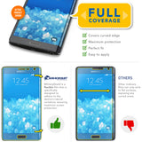 Samsung Galaxy Note Edge Screen Protector + White Carbon Fiber Skin