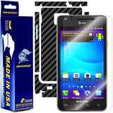Samsung Galaxy S2 / SII (AT&T U.S. Version) Screen Protector +  Black Carbon Fiber Skin Protector