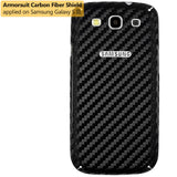 Samsung Galaxy S3 Screen Protector + Black Carbon Fiber Film Protector