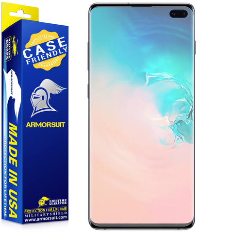 Samsung Galaxy S10 Plus Matte Case-Friendly Screen Protector