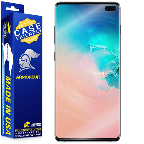Samsung Galaxy S10 Plus Case-Friendly Screen Protector