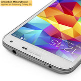 Samsung Galaxy S5 Screen Protector + White Carbon Fiber Film Protector