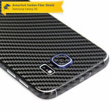 Samsung Galaxy S6 Screen Protector + Black Carbon Fiber Film Protector