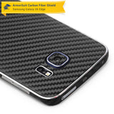 Samsung Galaxy S6 Edge Screen Protector [Full Screen Coverage] + Black Carbon Fiber Skin