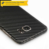 Samsung Galaxy S7 Edge Plus Screen Protector [Full Screen Coverage] + Black Carbon Fiber Skin
