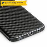 Samsung Galaxy S7 Screen Protector + Black Carbon Fiber Film Protector
