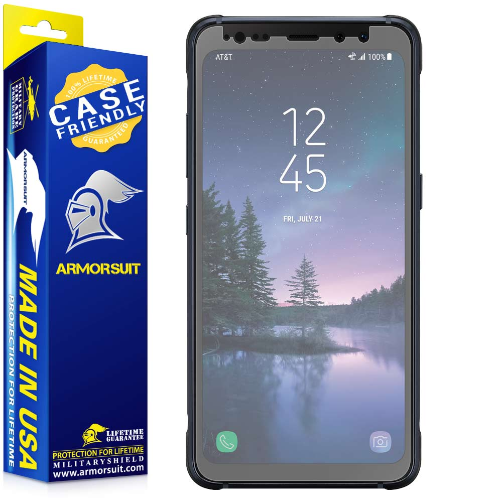 Samsung Galaxy S8 Active Matte Case-Friendly Screen Protector