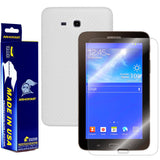 "Samsung Galaxy Tab 3 Lite 7"" Screen Protector + White Carbon Fiber Film Protector"