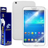 Samsung Galaxy Tab 3 8.0 (WIFI/3G/4G) International Version Screen Protector + White Carbon Fiber Film Protector
