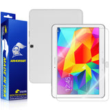 Samsung Galaxy Tab 4 10.1 Screen Protector + White Carbon Fiber Film Protector
