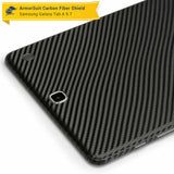 "Samsung Galaxy Tab A 9.7"" Screen Protector + Black Carbon Fiber Skin"