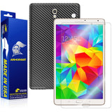 Samsung Galaxy Tab S 8.4 Screen Protector + Black Carbon Fiber Film Protector