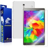 Samsung Galaxy Tab S 8.4 LTE Screen Protector + White Carbon Fiber Film Protector