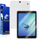 Samsung Galaxy Tab S2 9.7 Screen Protector + White Carbon Fiber Skin