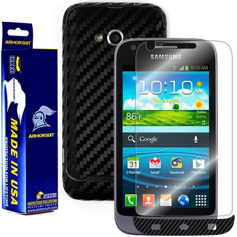 Samsung Galaxy Victory 4G LTE Screen Protector + Black Carbon Fiber Film Protector