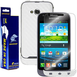 Samsung Galaxy Victory 4G LTE Screen Protector + White Carbon Fiber Film Protector