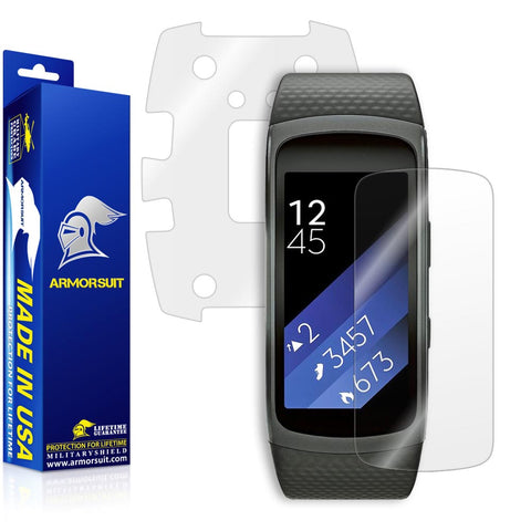 Samsung Gear Fit2 Screen Protector + Full Body Skin (Front & Back)