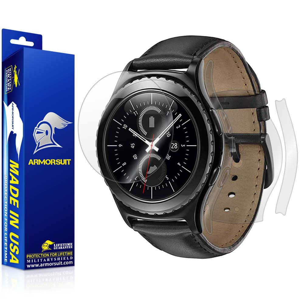 Samsung Gear S2 Classic Screen Protector + Full Body Skin Protector