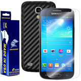 Samsung Galaxy S4 Mini Screen Protector + Black Carbon Fiber Film Protector
