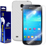 Samsung Galaxy S4 Mini Screen Protector + White Carbon Fiber Film Protector