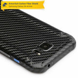 Samsung Galaxy S6 Active Screen Protector + Black Carbon Fiber Skin Protector
