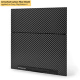 Sony PlayStation 4 PS4 Black Carbon Fiber Film Protector