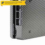 Sony PlayStation 4 PS4 Slim Black Carbon Fiber Film Protector