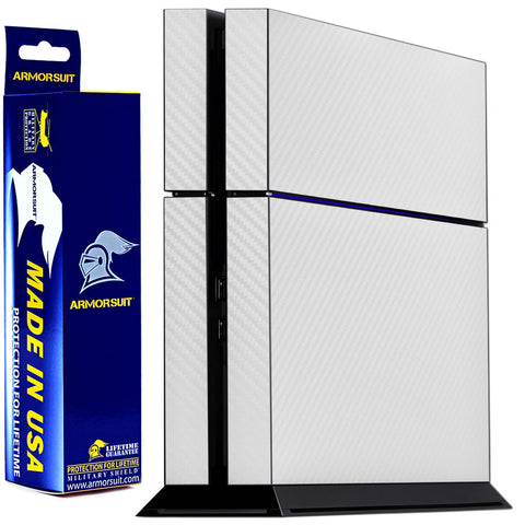 Sony PlayStation 4 PS4 White Carbon Fiber Film Protector