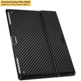 Sony Xperia Tablet S Screen Protector + Black Carbon Fiber Film Protector