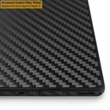 Sony Xperia Tablet Z Screen Protector + Black Carbon Fiber Film Protector