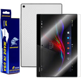 Sony Xperia Tablet Z Screen Protector + White Carbon Fiber Film Protector