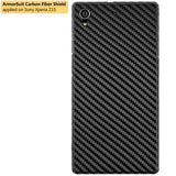 Sony Xperia Z1S Screen Protector + Black Carbon Fiber Film Protector