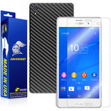 Sony Xperia Z3 Screen Protector + Black Carbon Fiber Skin