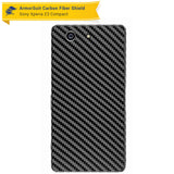 Sony Xperia Z3 Compact Screen Protector + Black Carbon Fiber Skin
