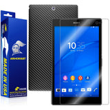 Sony Xperia Z3 Tablet Compact Screen Protector + Black Carbon Fiber Skin