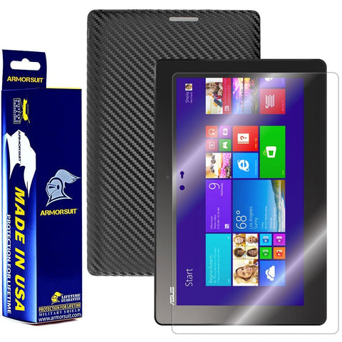 Asus Transformer Book T100 Screen Protector + Black Carbon Fiber Film Protector