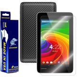 Toshiba Excite 7c Screen Protector + Black Carbon Fiber Film Protector