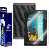 "Verizon Ellipsis 7"" Screen Protector + Black Carbon Fiber Film Protector"