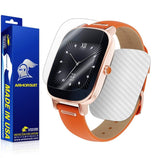 ASUS ZenWatch 2 1.45 Screen Protector + White Carbon Fiber Skin