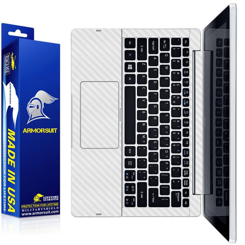 Acer Aspire Switch 11 (SW5-111) White Carbon Fiber Skin (Keyboard Only)
