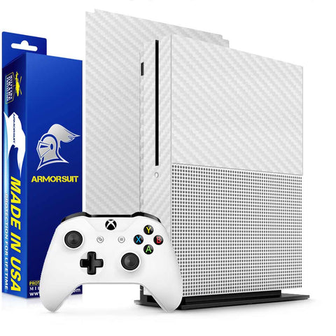 Xbox One S White Carbon Fiber Film Protector