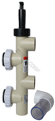 "Back wash valve for  Pentair filter FNS plus  KIT PVC SLIDE 2""W/UNIONS"
